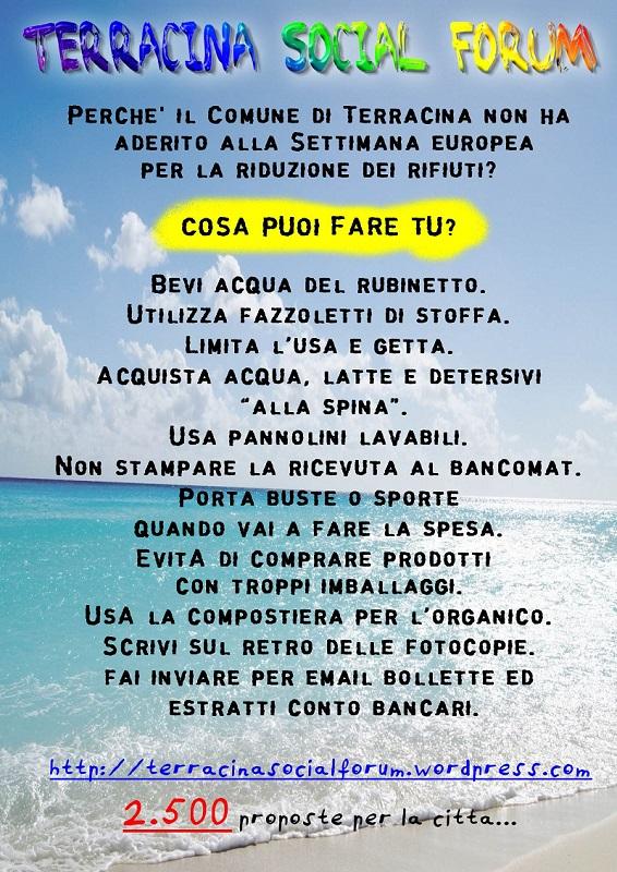 Terracina Social Forum Sito Pubblico Del Social Forum Di Terracina